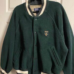 Polo Ralph Lauren varsity jacket.